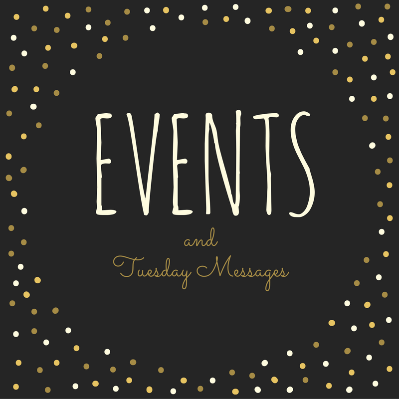 Weekly Email Message and Events